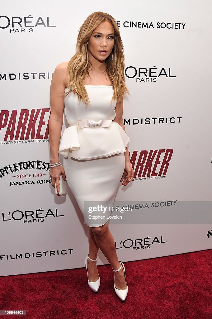 Jennifer Lopez attends a screening of 'Parker' hosted by FilmDistrict, The Cinema Society, L'Oreal Paris and Appleton Estate at MOMA on January 23, 2013 in New York City.