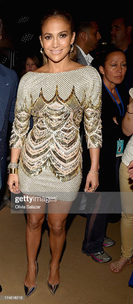 Jennifer Lopez attends backstage during the at Premios Juventud 2013 at Bank United Center on July 18, 2013 in Miami, Florida.