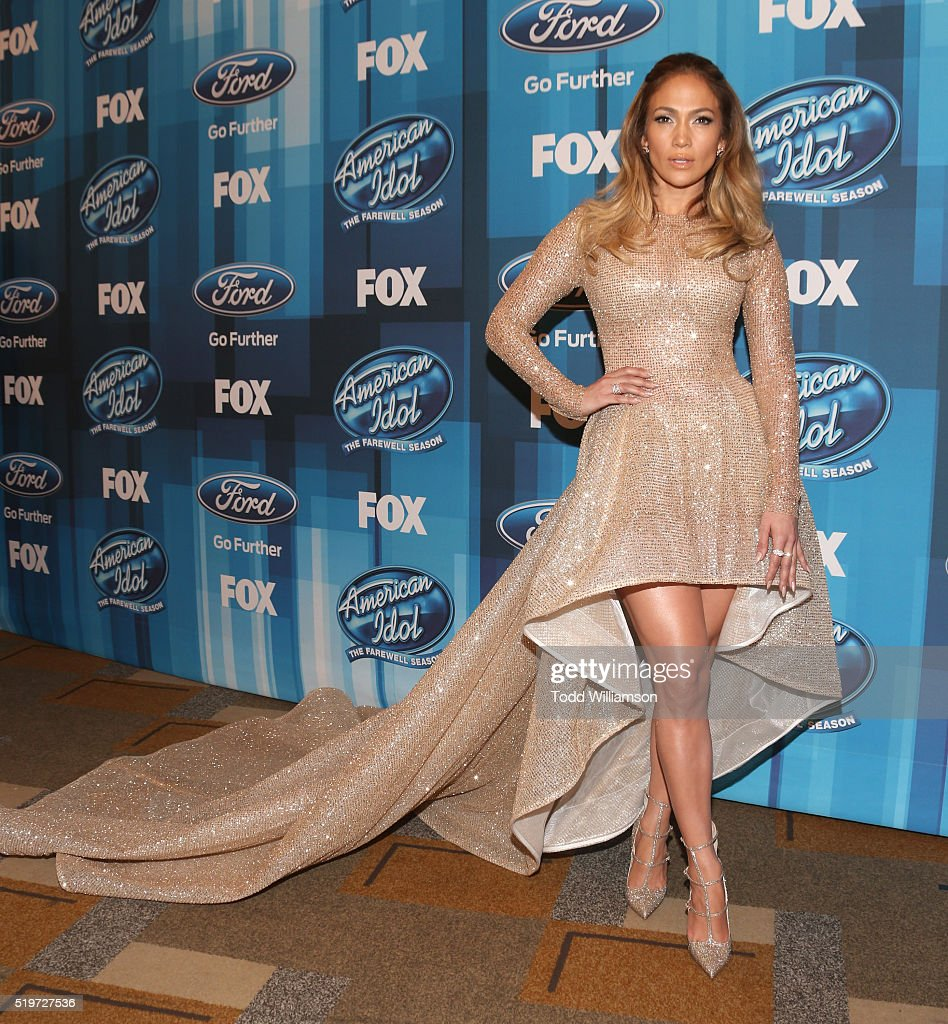 Jennifer Lopez attends FOX's 'American Idol' Finale For The Farewell Season at Dolby Theatre on April 7, 2016 in Hollywood, California.