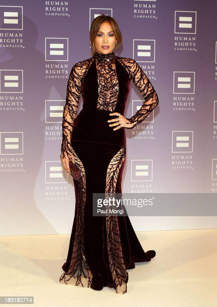 Jennifer Lopez attends the 2013 HRC National Dinner at Washington Convention Center on October 5 2013 in Washington DC