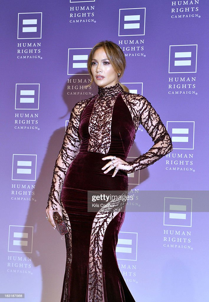 Jennifer Lopez attends the 2013 HRC National Dinner at Washington Convention Center on October 5, 2013 in Washington, DC.