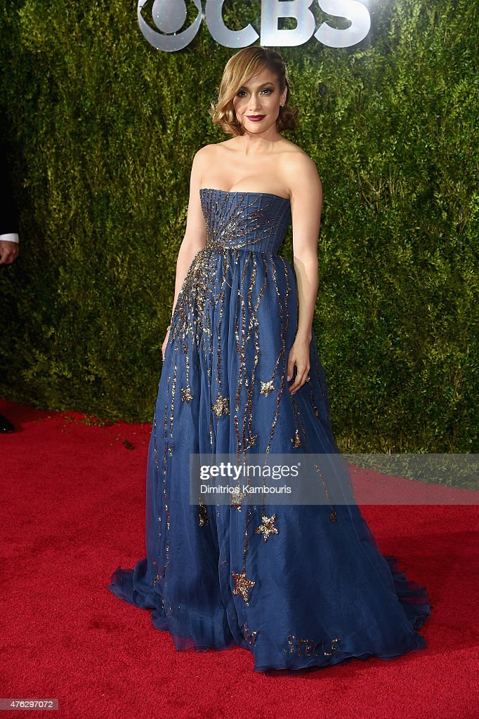 <a gi-track='captionPersonalityLinkClicked' href=/galleries/search?phrase=Jennifer+Lopez&family=editorial&specificpeople=201784 ng-click='$event.stopPropagation()'>Jennifer Lopez</a> attends the 2015 Tony Awards at Radio City Music Hall on June 7, 2015 in New York City.