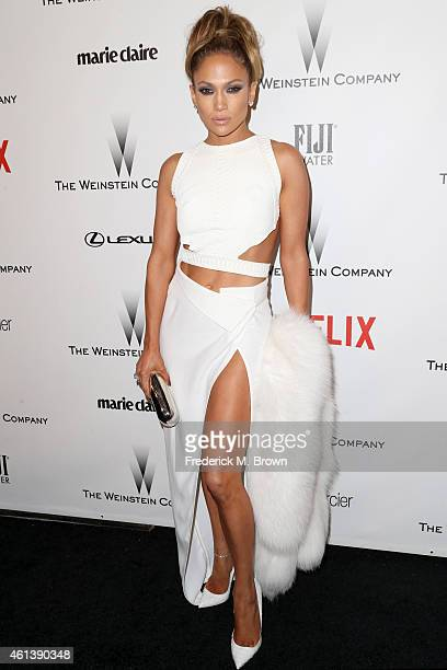 Jennifer Lopez attends the 2015 Weinstein Company and Netflix Golden Globes After Party at Robinsons May Lot on January 11 2015 in Beverly Hills...