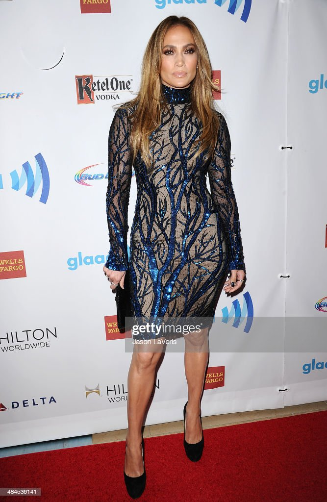 <a gi-track='captionPersonalityLinkClicked' href=/galleries/search?phrase=Jennifer+Lopez&family=editorial&specificpeople=201784 ng-click='$event.stopPropagation()'>Jennifer Lopez</a> attends the 25th annual GLAAD Media Awards at The Beverly Hilton Hotel on April 12, 2014 in Beverly Hills, California.