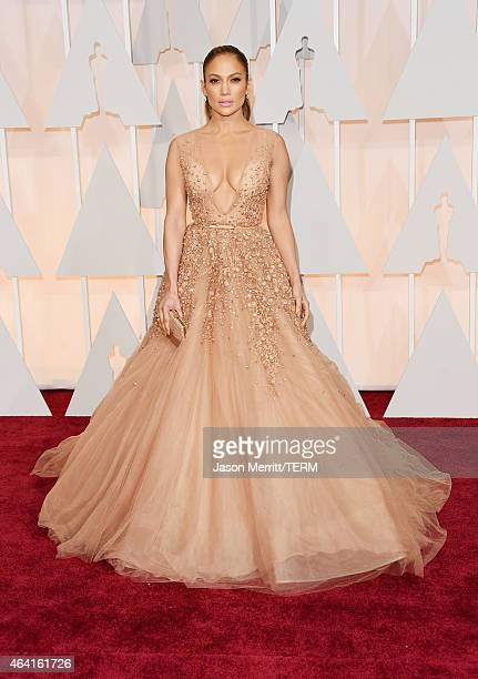 Jennifer Lopez attends the 87th Annual Academy Awards at Hollywood Highland Center on February 22 2015 in Hollywood California