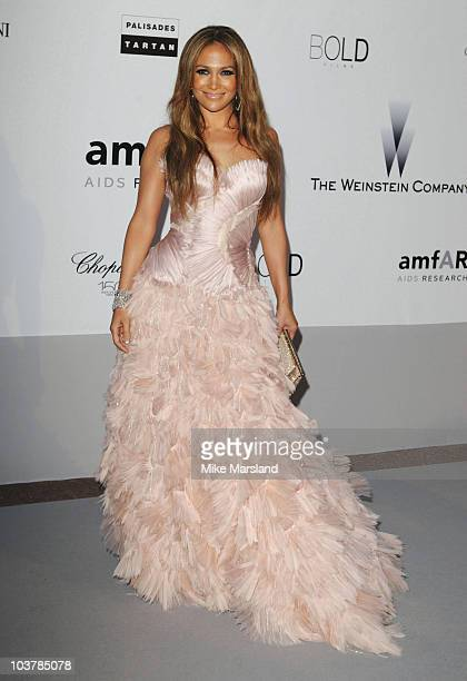 Jennifer Lopez attends the amfAR's Cinema Against Aids Gala at the Hotel Du Cap during the 63rd International Cannes Film Festival on May 20 2010 in...