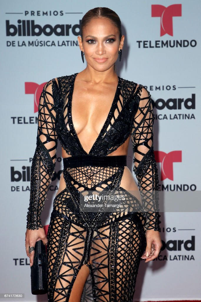 Jennifer Lopez attends the Billboard Latin Music Awards at Watsco Center on April 27, 2017 in Coral Gables, Florida.