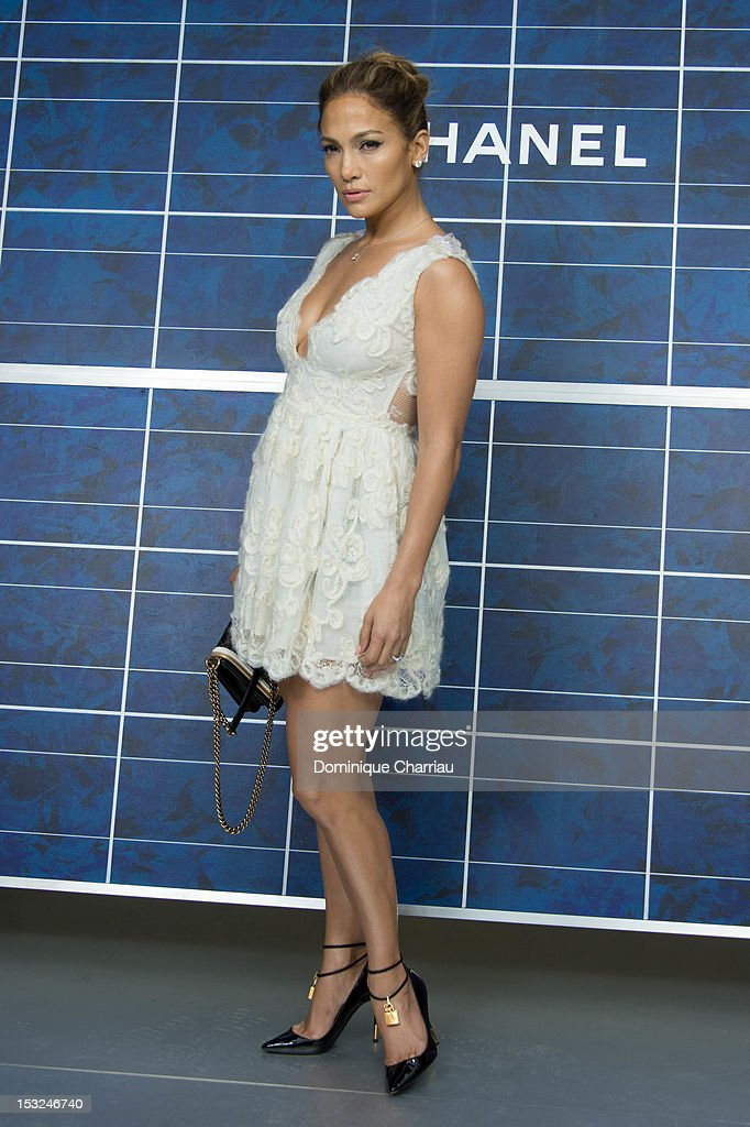 <a gi-track='captionPersonalityLinkClicked' href=/galleries/search?phrase=Jennifer+Lopez&family=editorial&specificpeople=201784 ng-click='$event.stopPropagation()'>Jennifer Lopez</a> attends the Chanel Spring / Summer 2013 show as part of Paris Fashion Week at Grand Palais on October 2, 2012 in Paris, France.