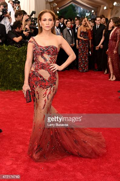 Jennifer Lopez attends the 'China Through The Looking Glass' Costume Institute Benefit Gala at the Metropolitan Museum of Art on May 4 2015 in New...