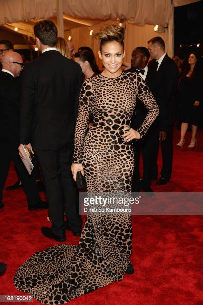 Jennifer Lopez attends the Costume Institute Gala for the 'PUNK Chaos to Couture' exhibition at the Metropolitan Museum of Art on May 6 2013 in New...