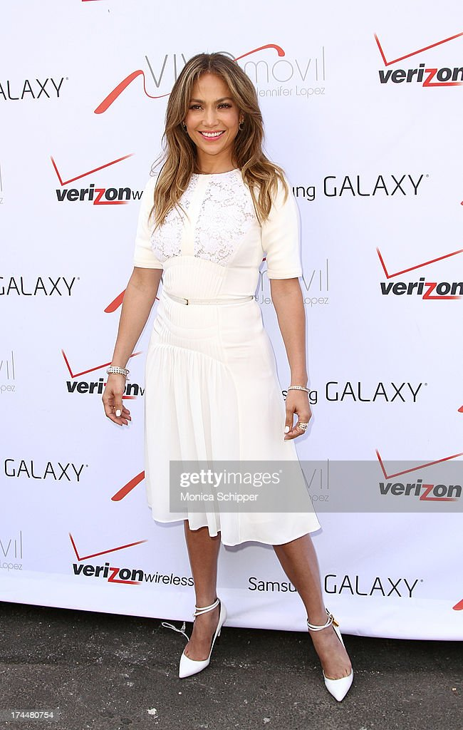 <a gi-track='captionPersonalityLinkClicked' href=/galleries/search?phrase=Jennifer+Lopez&family=editorial&specificpeople=201784 ng-click='$event.stopPropagation()'>Jennifer Lopez</a> attends the flagship store celebration at Viva Movil on July 26, 2013 in New York City.