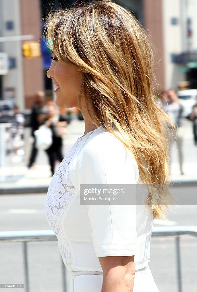 Jennifer Lopez (hair detail) attends the flagship store celebration at Viva Movil on July 26, 2013 in New York City.