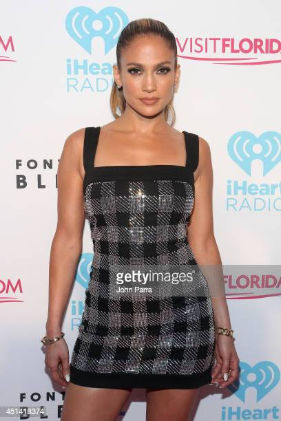 Jennifer Lopez attends the iHeartRadio Ultimate Pool Party presented by VISIT FLORIDA at Fontainebleau's BleauLive at Fontainebleau Miami Beach on...