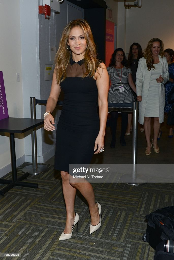 Jennifer Lopez attends the Mom + Social Event at 92Y Tribeca on May 8, 2013 in New York City.