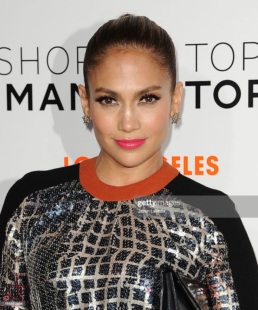 <a gi-track='captionPersonalityLinkClicked' href=/galleries/search?phrase=Jennifer+Lopez&family=editorial&specificpeople=201784 ng-click='$event.stopPropagation()'>Jennifer Lopez</a> attends the Topshop Topman LA flagship store opening party at Cecconi's Restaurant on February 13, 2013 in Los Angeles, California.