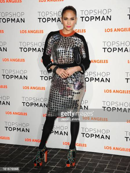 Jennifer Lopez attends the Topshop Topman LA flagship store opening party at Cecconi's Restaurant on February 13 2013 in Los Angeles California