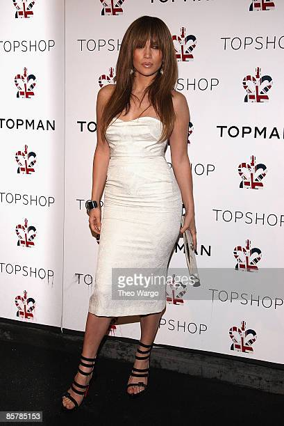 Jennifer Lopez attends the Topshop/Topman launch dinner at Balthazar on April 1 2009 in New York City