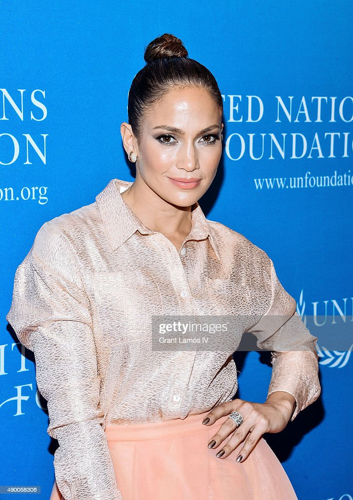 <a gi-track='captionPersonalityLinkClicked' href=/galleries/search?phrase=Jennifer+Lopez&family=editorial&specificpeople=201784 ng-click='$event.stopPropagation()'>Jennifer Lopez</a> attends the UN Foundation's Gender Equality Discussion at The Four Seasons Restaurant on September 25, 2015 in New York City.