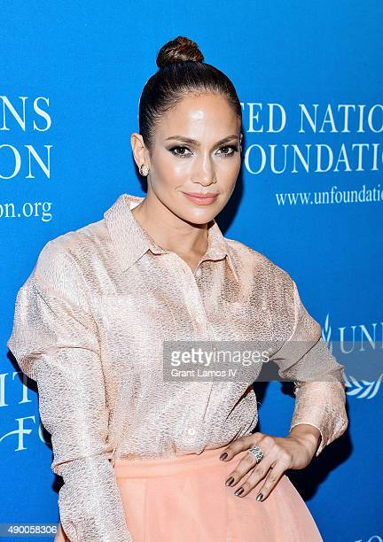 Jennifer Lopez attends the UN Foundation's Gender Equality Discussion at The Four Seasons Restaurant on September 25 2015 in New York City