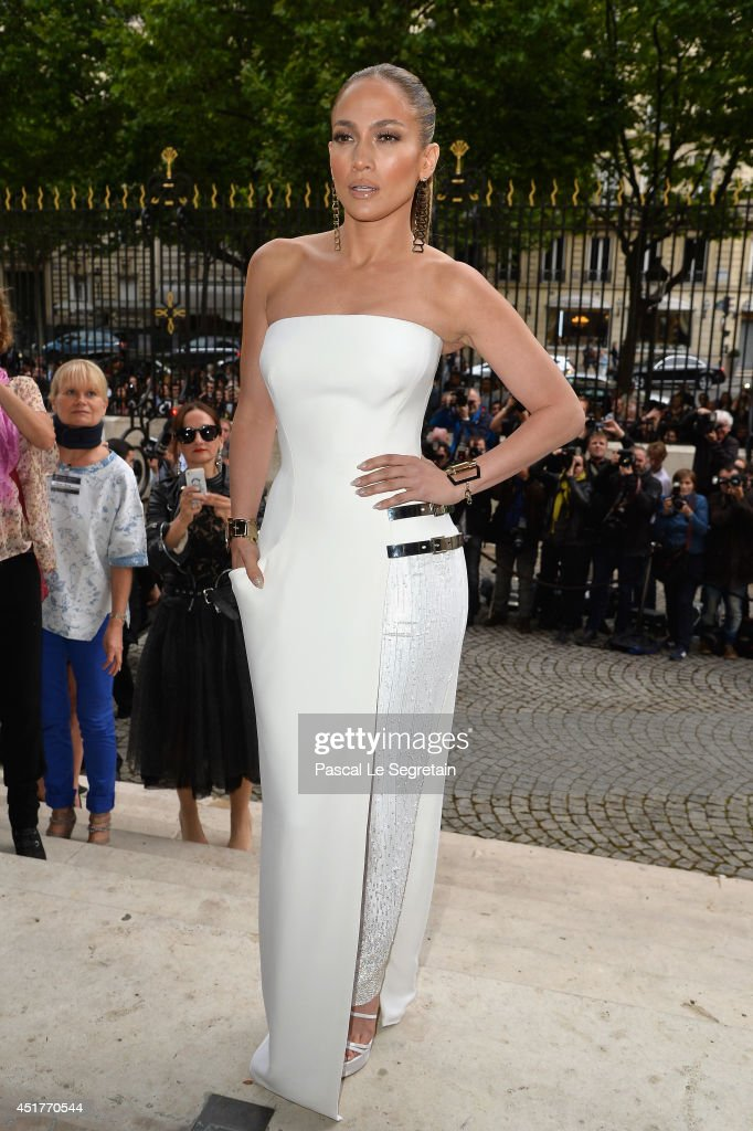 <a gi-track='captionPersonalityLinkClicked' href=/galleries/search?phrase=Jennifer+Lopez&family=editorial&specificpeople=201784 ng-click='$event.stopPropagation()'>Jennifer Lopez</a> attends the Versace show as part of Paris Fashion Week - Haute Couture Fall/Winter 2014-2015 on July 6, 2014 in Paris, France.