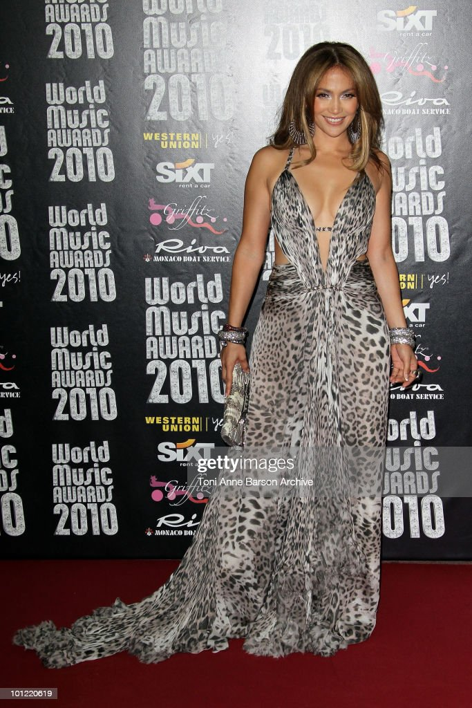 Jennifer Lopez attends the World Music Awards 2010 at the Sporting Club on May 18, 2010 in Monte Carlo, Monaco.