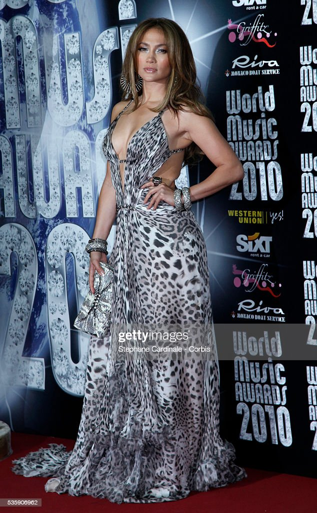 Jennifer Lopez attends the 'World Music Awards 2010 - show' at the Sporting Club on May 18, 2010 in Monte Carlo, Monaco.