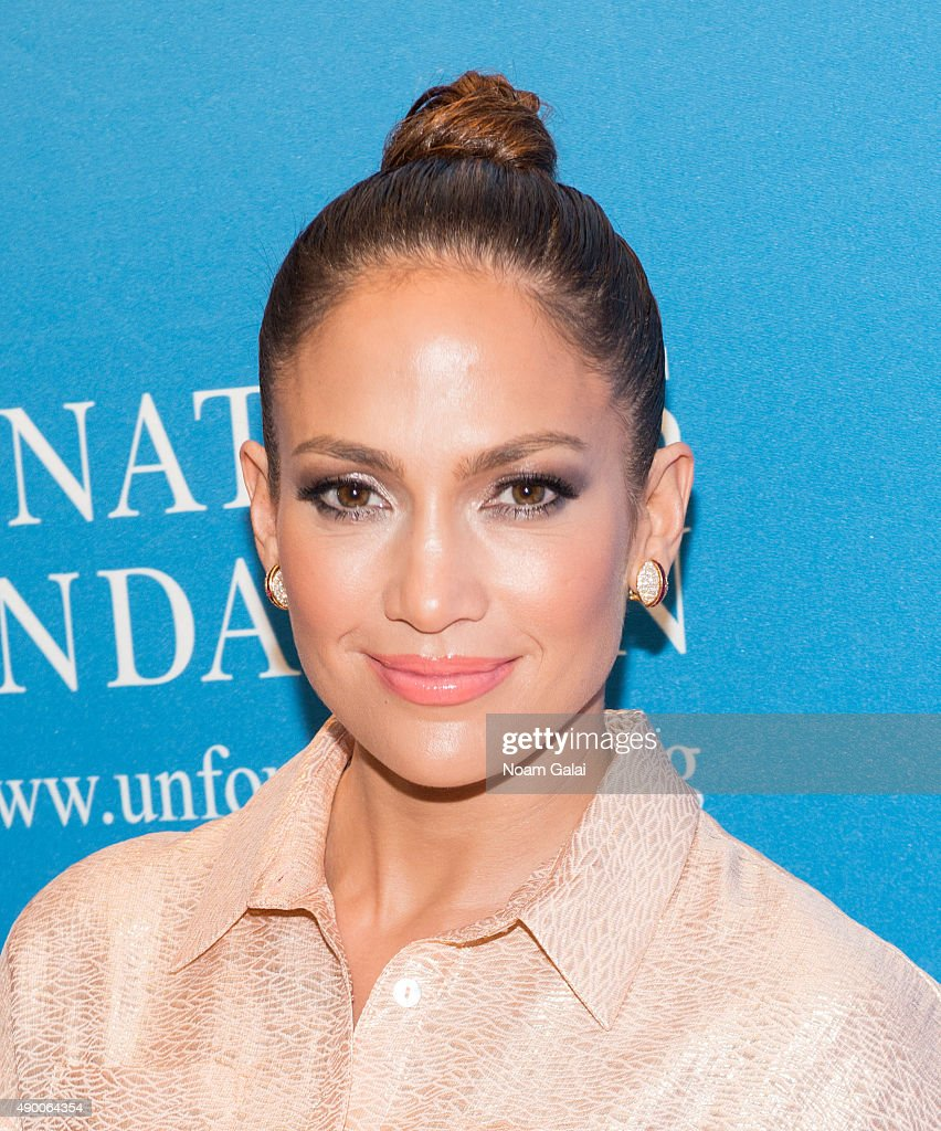 Jennifer Lopez attends UN Foundation's gender equality discussion at The Four Seasons Restaurant on September 25, 2015 in New York City.