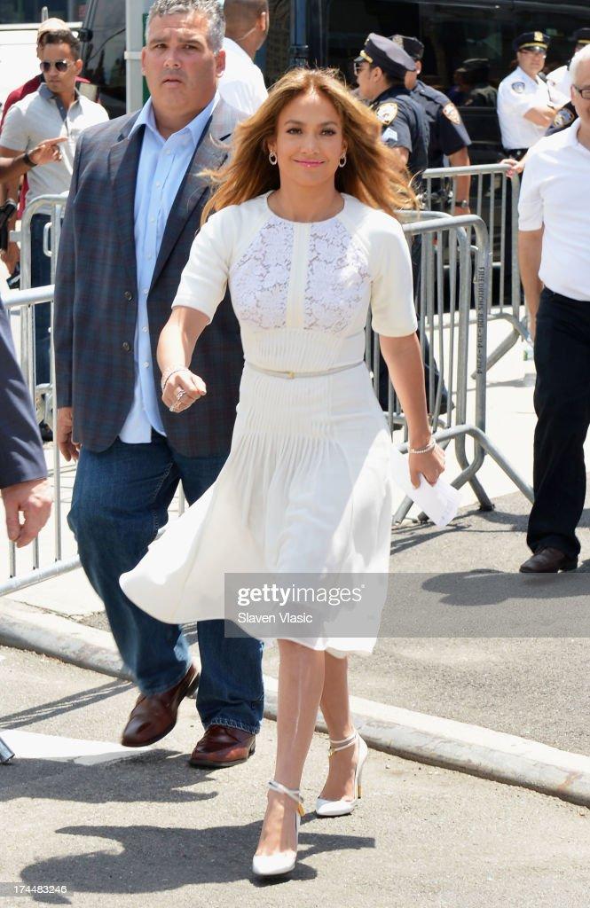 Jennifer Lopez attends Viva Movil By Jennifer Lopez Flagship Store Opening at Viva Movil on July 26, 2013 in New York City.