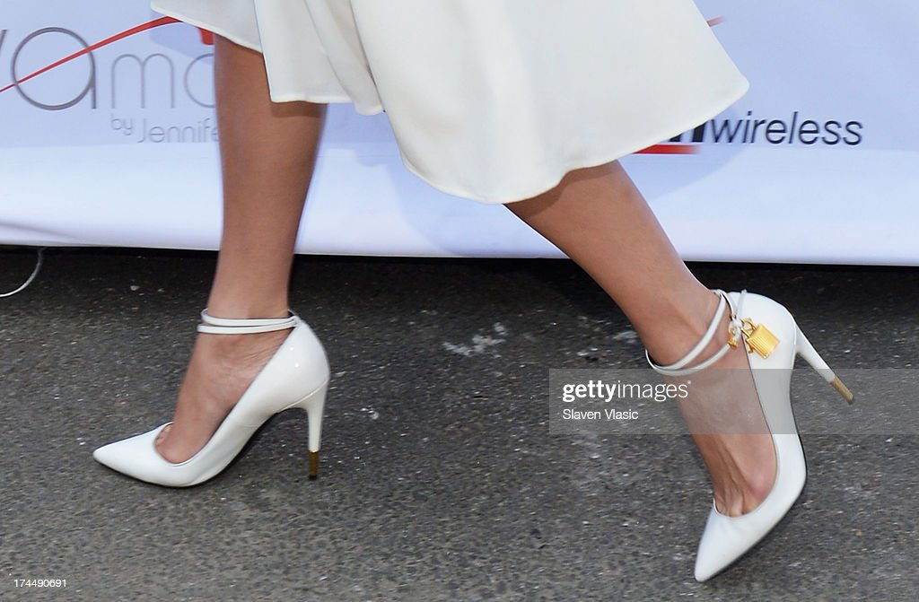 Jennifer Lopez (shoe detail) attends Viva Movil By Jennifer Lopez Flagship Store Opening at Viva Movil on July 26, 2013 in New York City.