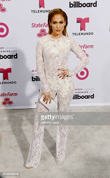 Jennifer Lopez backstage at 2015 Billboard Latin Music Awards presented by State Farm on Telemundo at Bank United Center on April 30 2015 in Miami...