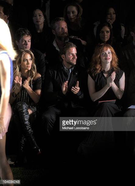 Jennifer Lopez Bradley Cooper and Christina Hendricks attend the Tommy Hilfiger Spring 2011 fashion show during MercedesBenz Fashion Week at The...