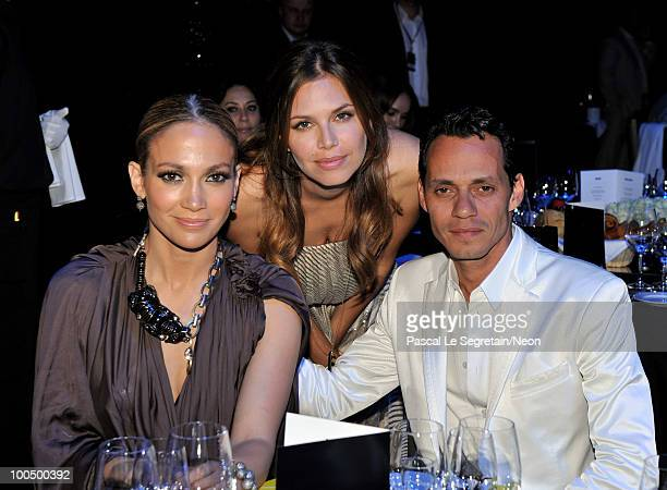 ACCESS *** Jennifer Lopez Dasha Zhukova and Marc Anthony attend the NEON Charity Gala in aid of the IRIS Foundation at the Capital City on May 24...