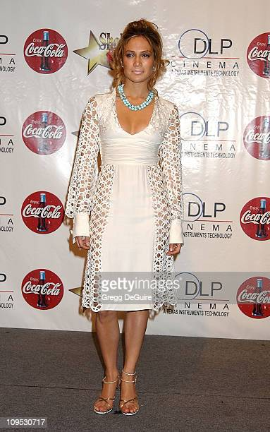 Jennifer Lopez during 2002 ShoWest Gala Awards Press Room at Paris Hotel in Las Vegas Nevada United States