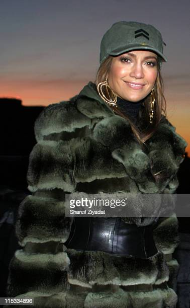Jennifer Lopez during Jennifer Lopez and Fat Joe Shoot 'Hold You Down' January 15 2005 at Streets of New York City in New York City New York United...