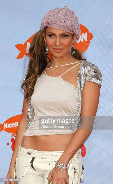 Jennifer Lopez during Nickelodeon's 17th Annual Kids' Choice Awards Arrivals at Pauley Pavillion in Westwood California United States