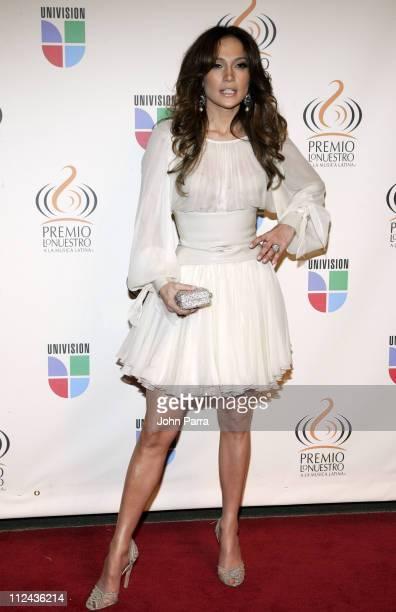 Jennifer Lopez during Premio Lo Nuestro a la Musica Latina 2007 Arrivals at American Airlines Arena in Miami Florida United States