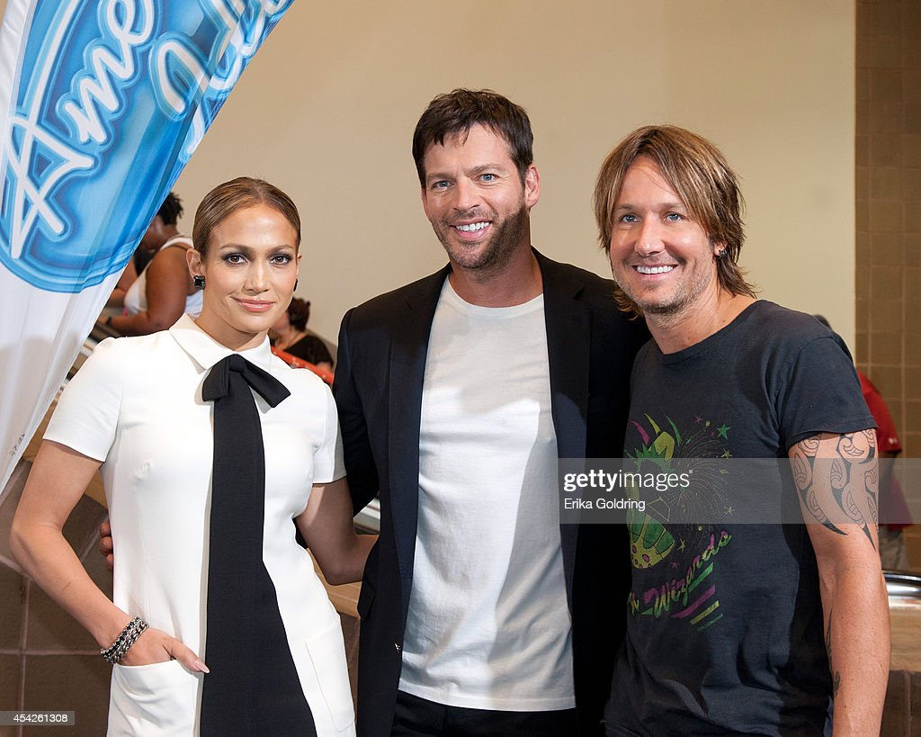<a gi-track='captionPersonalityLinkClicked' href=/galleries/search?phrase=Jennifer+Lopez&family=editorial&specificpeople=201784 ng-click='$event.stopPropagation()'>Jennifer Lopez</a>, Harry Connick, Jr. and <a gi-track='captionPersonalityLinkClicked' href=/galleries/search?phrase=Keith+Urban&family=editorial&specificpeople=202997 ng-click='$event.stopPropagation()'>Keith Urban</a> arrive at the Ernest N. Morial Convention Center on August 27, 2014 in New Orleans, Louisiana.