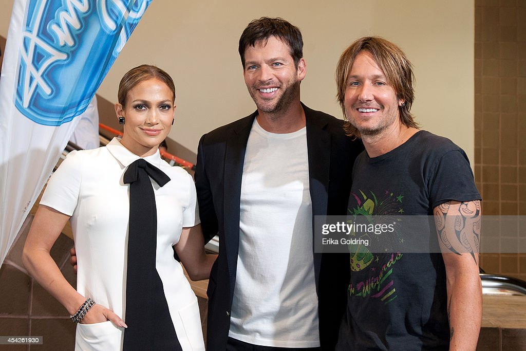 Jennifer Lopez Harry Connick Jr and Keith Urban arrive at the Ernest N Morial Convention Center on August 27 2014 in New Orleans Louisiana