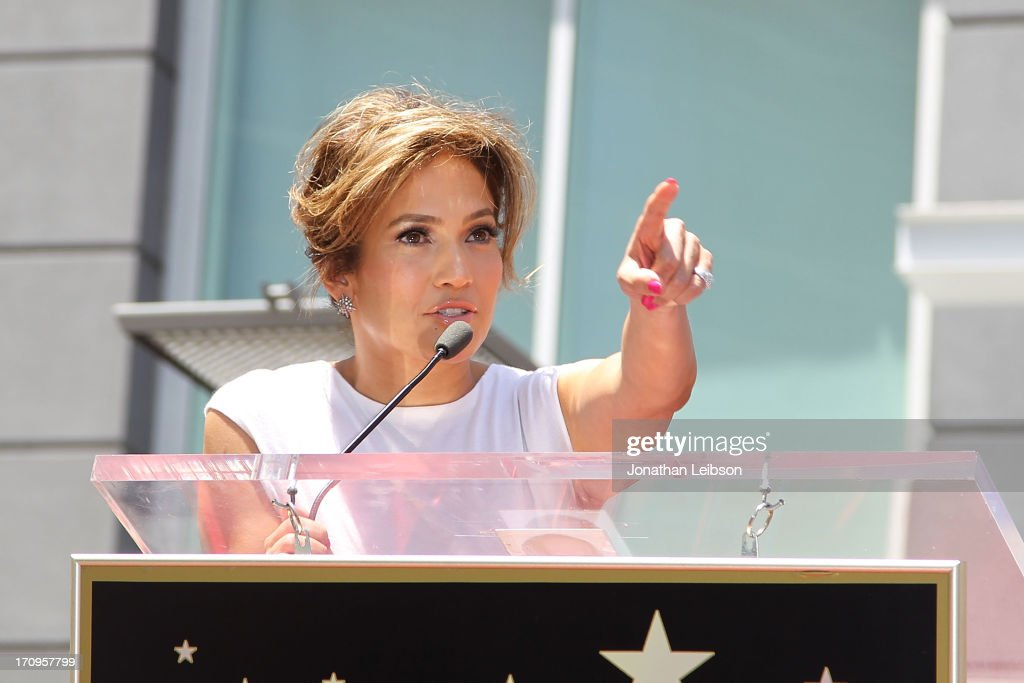 Jennifer Lopez Honored With 2,500th Star On The Hollywood Walk Of Fame on June 20, 2013 in Hollywood, California.
