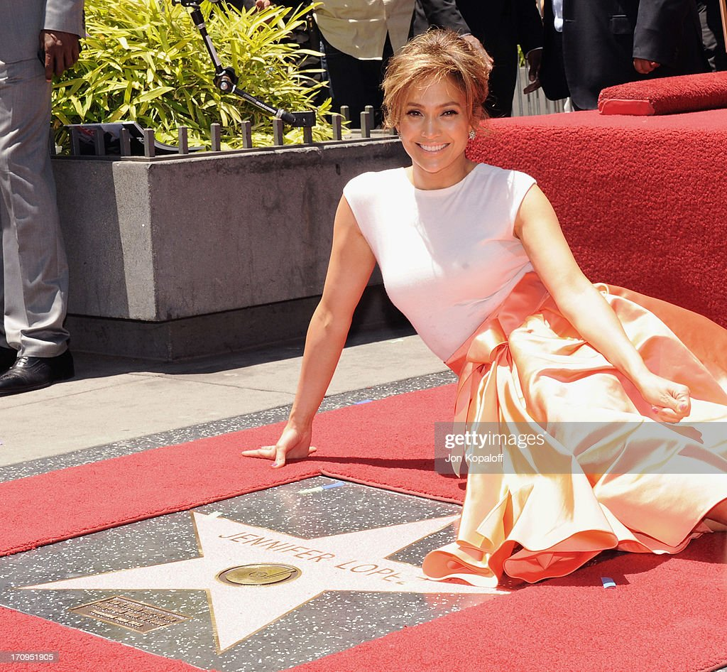Jennifer Lopez Honored With Star On The Hollywood Walk Of Fame on June 20, 2013 in Hollywood, California.
