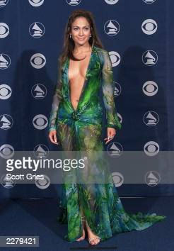 Jennifer Lopez in Versace at the 42nd Grammy Awards held in Los Angeles CA on February 23 2000 Photo by Scott Gries/ImageDirect