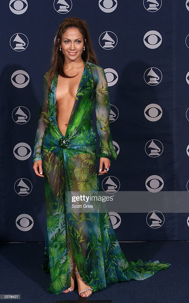 <a gi-track='captionPersonalityLinkClicked' href=/galleries/search?phrase=Jennifer+Lopez&family=editorial&specificpeople=201784 ng-click='$event.stopPropagation()'>Jennifer Lopez</a> in Versace at the 42nd Grammy Awards held in Los Angeles, CA on Febuary 23, 2000 Photo by Scott Gries/ImageDirect
