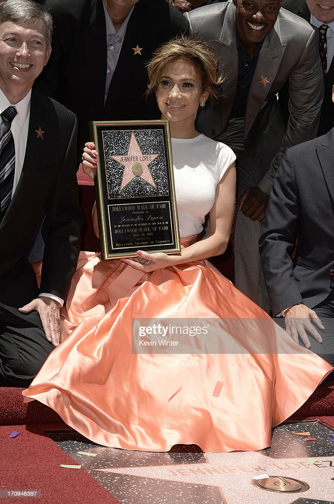 HOLLYWOOD, CA - Jennifer Lopez is honored with a star on the Hollywood Walk Of Fame June 20, 2013 in Hollywood, California.
