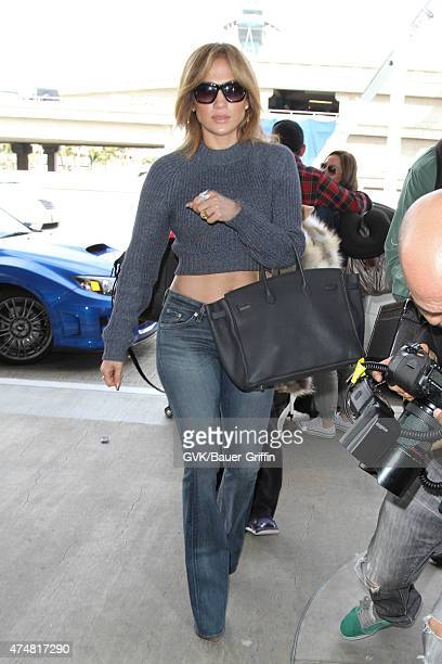 Jennifer Lopez is seen at LAX on May 26 2015 in Los Angeles California