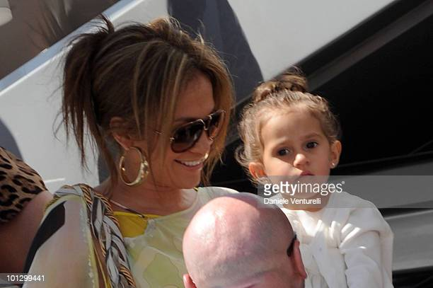 Jennifer Lopez is seen carrying daughter Emme Maribel Muniz with Domenico Dolce during the 63rd Cannes Film Festival on May 23 2010 in Cannes France