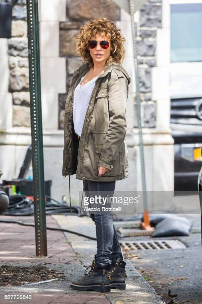 Jennifer Lopez is seen filming 'Shades of Blue' on August 8 2017 in New York City