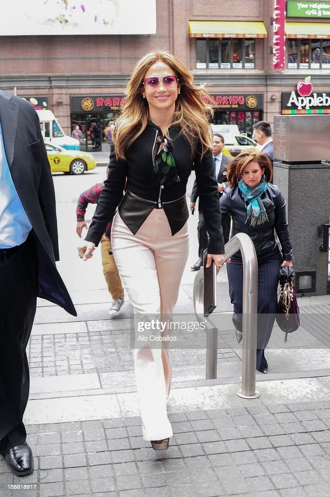 <a gi-track='captionPersonalityLinkClicked' href=/galleries/search?phrase=Jennifer+Lopez&family=editorial&specificpeople=201784 ng-click='$event.stopPropagation()'>Jennifer Lopez</a> is seen in Times Square on May 15, 2013 in New York City.
