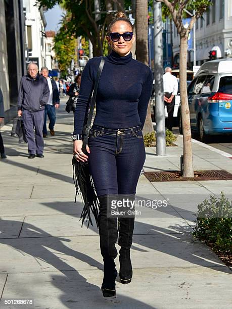 Jennifer Lopez is seen on December 13 2015 in Los Angeles California