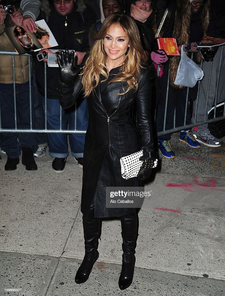 Jennifer Lopez is seen on January 22, 2013 in New York City.