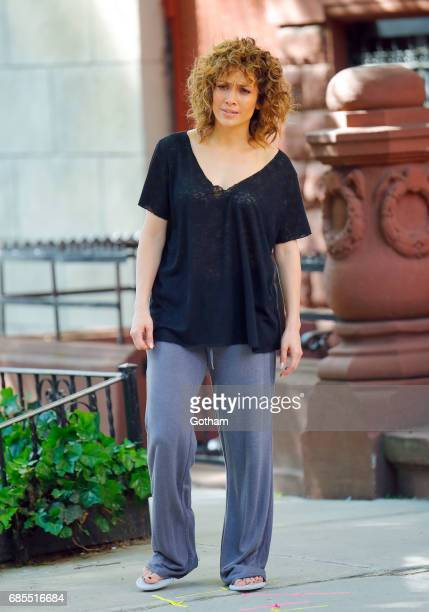 Jennifer Lopez is seen shooting a scene for 'Shades of Blue' on May 19 2017 in New York City